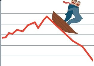http://www.dreamstime.com/stock-image-market-fluctuation-two-terrified-businessman-boat-going-down-trend-vector-illustration-image40607761